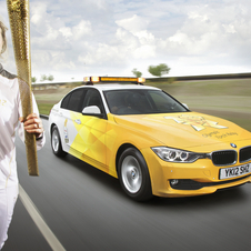 BMW is providing 1,550 320d Efficient Dynamics for the Torch Relay and cycle events