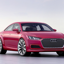 The design of the TT Sportback is inspired in the most recent generation of the Audi TT