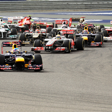 Race action in Bahrain
