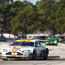The Vantage GTE premiered at the 12 Hours of Sebring