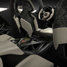 Rear passengers get their own CFRP seats with their own screen