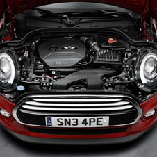 The Cooper uses a 1.5-liter turbocharged three-cylinder engine
