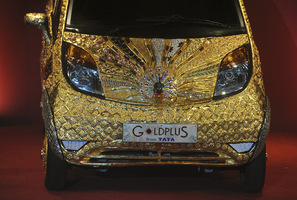 $4.6M Gold Tata Nano Only Slightly Better Purchase than $4.7M Lamborghini Scale Model