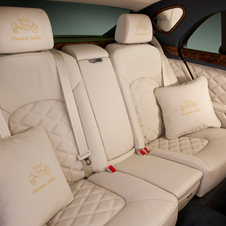 The headrests are specially embroidered.