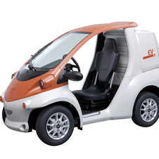 The Toyota COMS is a single seat electric car that Toyota sells in Japan