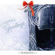 During hollidays Pagani teased the Huayra Roadster in its Christmas greetings card