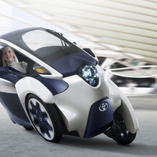 The i-Road was introduced at the Geneva Motor Show
