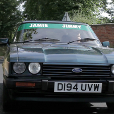 O último Ford Capri produzido vai aparecer no novo progama de Jamie Oliver Food Fighting Club