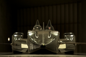 An early image of the Deltawing in the windtunnel