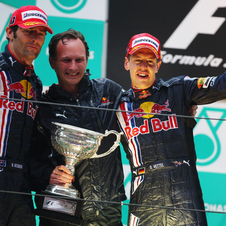 Vettel and Red Bull have taken three consecutive championships