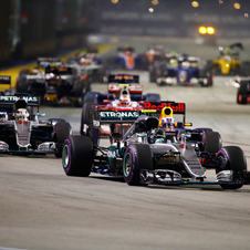 Rosberg and Hamilton have just eight points splitting them in the world championship with just six races remaining to the end of the season