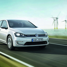 The e-Golf has a 190km range. from an 113hp (115ps) and 199lb-ft (270Nm) electric motor