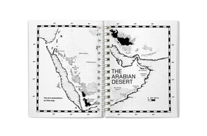 It includes a map of the Arabian Desert with navigation instructions