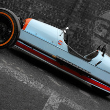 As cores da Gulf no Morgan Threewheeler