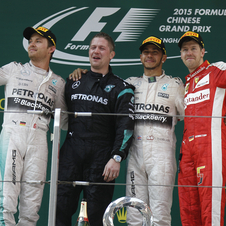 Rosberg and Vettel completed the podium
