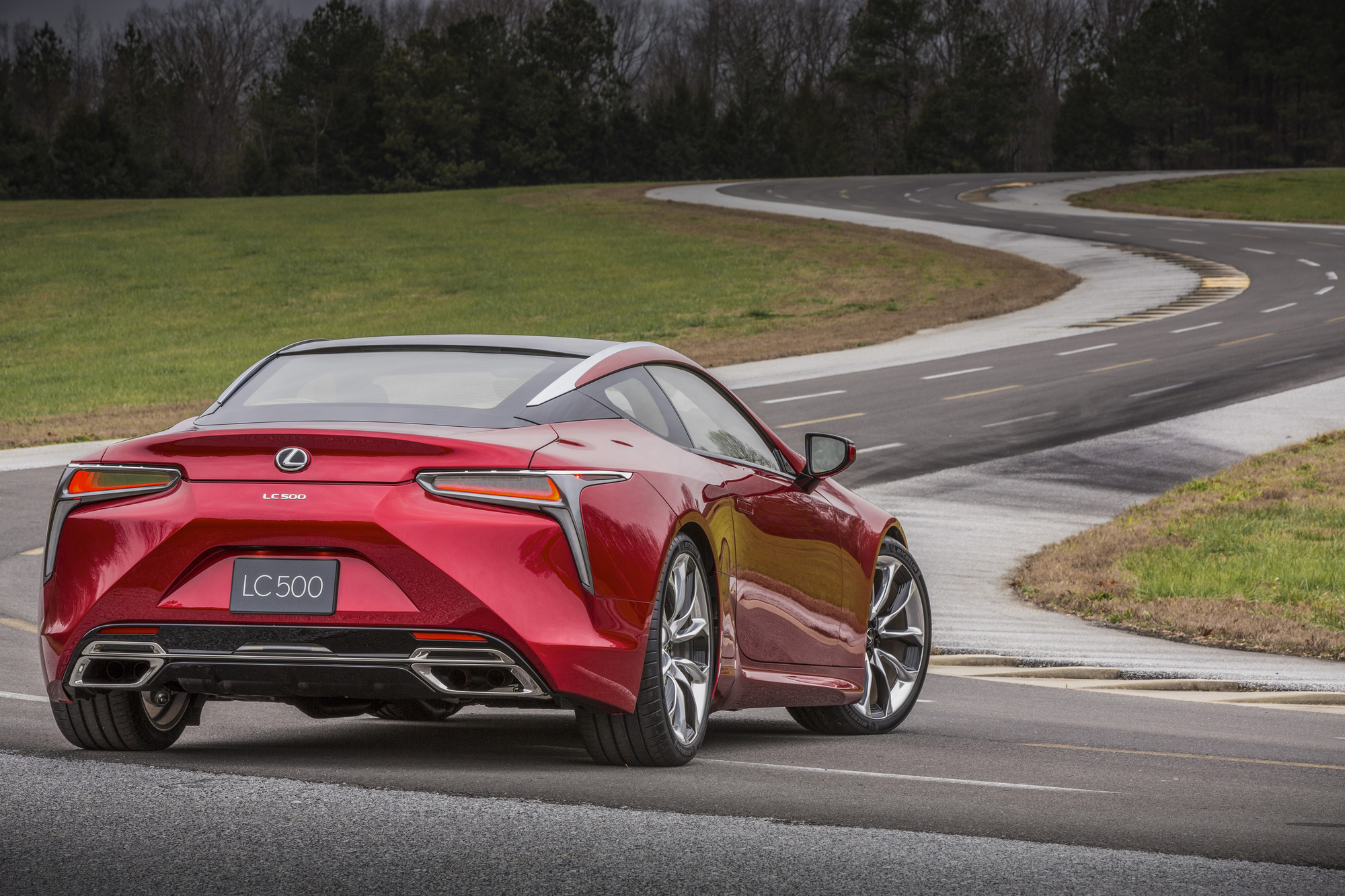 Lexus was able to include several cues from the LF-LC and mixed it up with the brand's familiar design features