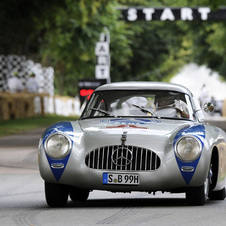 The model at Goodwood won the 1952 24 Hours of Le Mans