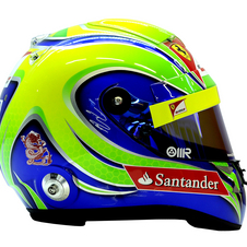 A helmet from Felipe Massa will be on display