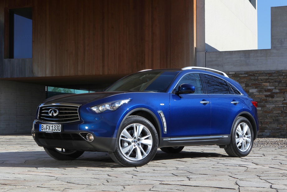 All Infiniti FX's get a new front bumper and new available colors including this Iridium Blue