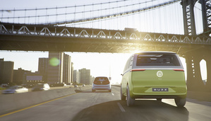 The VW ID Buzz showcases the latest developments of the autonomous driving mode ID Pilot