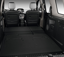 With the seats flat the van has tons of space