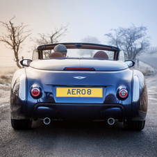 The Aero 8 is powered by the same BMW-sourced 372hp 4.8-litre V8 engine used in the rest of the  Aero range