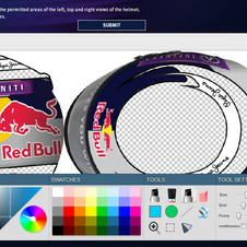 There is an online app to design the helmet or it can be done by hand