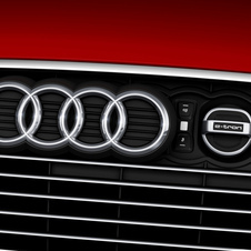 The front gets a unique Audi emblem with the addition of a stylized 'e' for the plugin