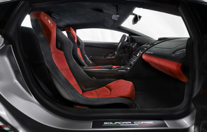 Buyers can either order carbon fiber race seats or standard comfort seats