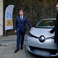 The car was given to French Industrial Minister Arnaud Montebourg