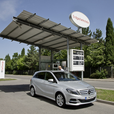 The B-Class will get a natural gas option