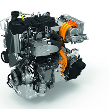 The two-cylinder diesel and electric motor are incorporated together