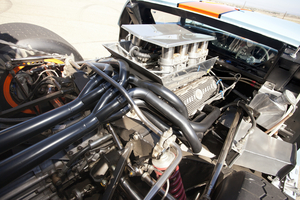 The current engine is a 4.7 liter Ford V8 with 440hp