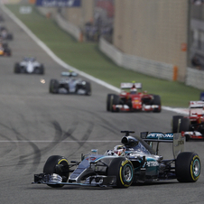 Kimi Raikkonen, Nico Rosberg and Valteri Bottas had an interesting battle for the two remaining places on the podium