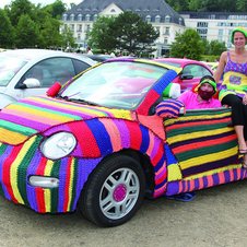 The sweater on this Volkswagen weighs 40kg