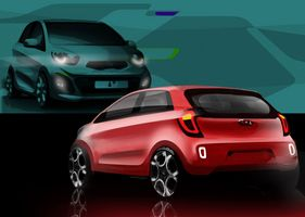 Kia reveals first design sketches from the new Picanto