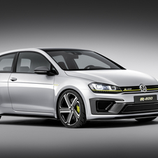 The Golf R400 is equipped with a more powerful version of the new 2.0-liter engine (EA888) of the Golf R