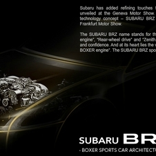 Subaru to Show BRZ Sports Coupe Concept at Frankfurt