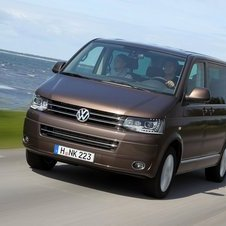 The updated Transporter gets two new engines including VW's diesel with BlueMotion Technology