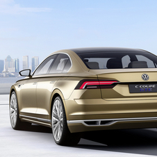 The C Coupé GTE also serves to show the design to be adopted by future Volkswagen premium models