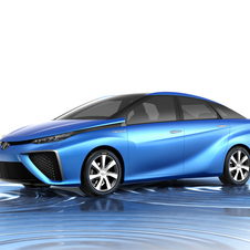 The FCV concept is Toyota's fuel cell sedan