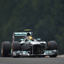 It is Hamilton's fourth consecutive pole position