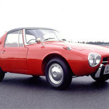1965- Toyota Sports 800 with 2 cylinder, 800cc boxer engine is Toyota's first sports car