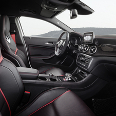 The interior gets man-made leather and microfiber seats