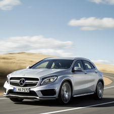 The GLA45 AMG is the truck counterpart to the A45 AMG and CLA45 AMG