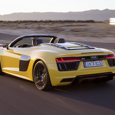 The new R8 Spyder soft-top is fully automatic an opens and closes in 20 seconds at speeds of up to 50km/h