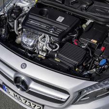 The engine is Mercedes' 2.0-liter turbocharged four-cylinder