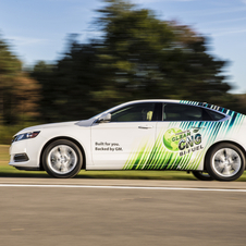 It will be the first car in the US offered from the factory with a bi-fuel CNG option