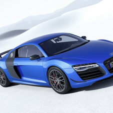 O R8 LMX is the first production model to be marketed with laser headlights