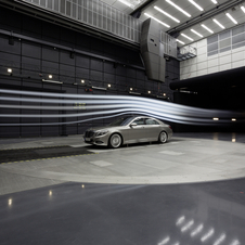 The cars sit on a turntable to simulate wind from any angle